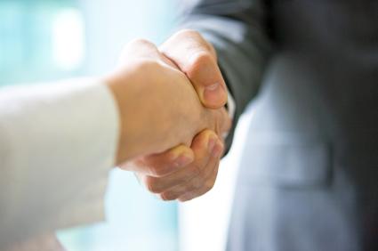 Håndtryk på LinkedIn